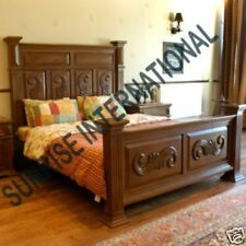 Beds - Artistic Wooden Indian King Size Double Bed with hand carving !!