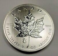 2013 Canada $5.00 1 oz Silver Maple Leaf .9999 Fabulous 15 Privy Mark