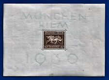 1936 NAZI GERMANY 3rd Third Reich Horse Show Brown Ribbon stamp souvenir sheet