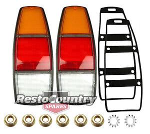 Holden WB Taillight Lens + Gasket + Fitting Kit x2 Ute /Van brake stop blinker