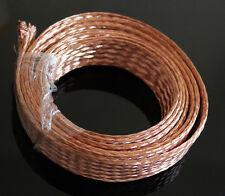10m (33ft),11mm Flat Copper Braid cable,Bare copper braid wire, ground lead