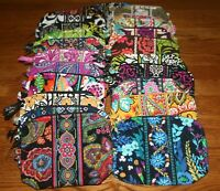 Vera Bradley MEDIUM COSMETIC bag case travel makeup 4 tote purse backpack  RARE