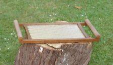 Ancien plateau en bois et verre