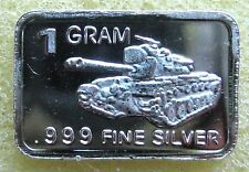 Best junk drawer: One (1) Gram SOLID SILVER TANK BAR .999 pure silver bar