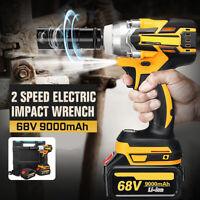68V 9000mAh 520N.m Cordless Li-ion Electric Impact Wrench Brushless Motor Rattle