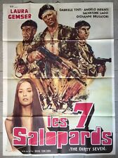 Affiche LES SEPT SALOPARDS Dirty Seven BRUNO FONTANA Laura Gemser 120x160cm