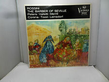 ROSSINI THE BARBER OF SEVILLE PETERS VALLETTI MERRILL RCA VIC6102A   LP RECORD