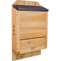 "Nature's Way Bird Products CWH6 Triple Chamber Cedar Bat House, 20.5"" x 12"" x 5"""