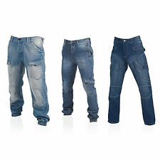 Lee Cooper Mens Designer Denim Fashion Jeans Casual Pants Cargo Cuffed Trousers