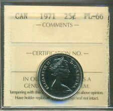 1971 Canada 25 cent ICCS PL 66