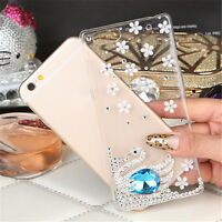 3D Bling Diamond Transparent TPU Soft Ultra Thin Back Case Cover For Phones