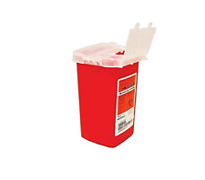10 Pack Sharps 1 Quart Container Biohazard Needle Disposal 1 Qt Dr Tattoo Sharp