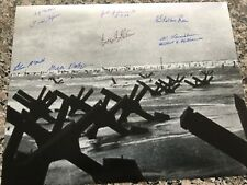 D-DAY JUNE 6,1944 OMAHA BEACH LANDING 8 D-DAY VETERANS RARE MULTI SIGNED PHOTO