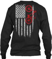 Usa Mountain Bike S And Gildan Long Sleeve Tee T-Shirt