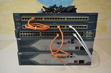 Cisco CCENT, CCNA & CCNP LAB KIT 2x 2821 15.1 IOS 1x 3550-24 LAYER 3, 2x2950