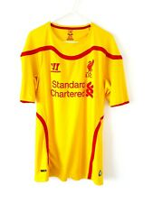 Liverpool Away Shirt 2014. Medium. Official Warrior. Yellow Adults Football Top.