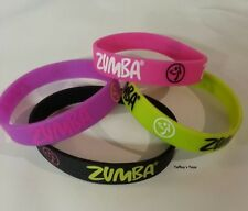 Zumba ~ Armed 'n' Fabulous Rubber Bracelets - 4 Pack! ~ New! Free Ship!