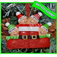 Personalised Christmas / XMAS Tree Decoration Gift Bauble Ornament, 4 family
