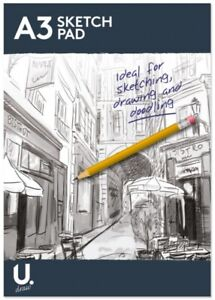 A4 / A3 Sketch Pad Book White Paper Artist Sketching Drawing Doodling Art Craft