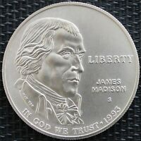 USA ONE DOLLAR JAMES MADISON 1993  ARGENT