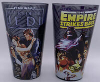 Star Wars Glasses Empire Strikes Back And Return Of The Jedi Set of 2 FREE SHIP