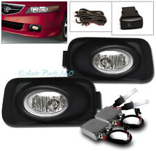 04-05 ACURA TSX BASE 4DR BUMPER DRIVING CHROME FOG LIGHT LAMP +50W 8K HID+SWITCH