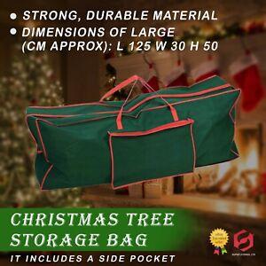 Large Xmas Tree Storage Bag For Christmas Tree Decoration Zip Up Bag, 125cm New