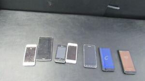 Lot Of (7)  PHONES APPLE MOTOROLA  MIXED LOT APPLE  LG
