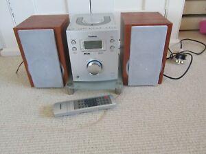 GOODMANS MICRO1104DAB DAB RADIO/CD MICRO HI FI with Glass Stand & Remote Control