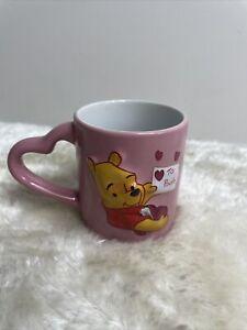 Mini Espresso coffee mug heart shaped handle DISNEY STORE Winnie the Pooh Rare