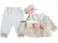 NEU Baby Mädchen Set 3-Teile Tunika/Shirt , Hose, Stirnband  Gr.  56, 62, 68