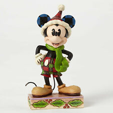 "4.75"" Christmas Mickey Mouse Figurine Figure Disney Disneyland Statue Holidays"