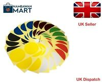 9mm Coloured Dots Round Sticker Sticky Adhesive Spot Circle Labels Multi-Colour
