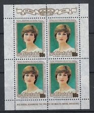 Aitutaki 1981 Minifoglio Matrimonio reale Mf 302 Mnh
