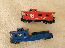 Ho Train Cabooses - Lot of 2 - Santa Fe and C&O