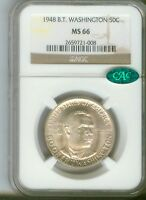1948 50C Booker T. Washington Silver Commemorative  NGC MS66 CAC  2659721-008