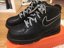 Vintage Nike Air Black  Leather Boots Rare Size 10  Jordan Lebron Kd Acg Mens
