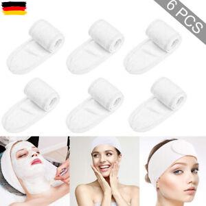 6x Haarband für SPA Make-Up Kosmetik Stirnband Verstellbare mit Klettverschluss