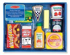 DAMAGED BOX - Melissa & Doug Fridge Food Wooden Pretend Play Food Set 9 Pieces