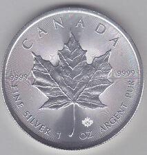 2019 Canadian Silver Maple Leaf Bullion Coin, BU, 1 Troy Oz, .9999 Fine Silver