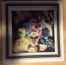 Mighty Morphin Power Rangers Carnival Glass Picture Wall Hanging