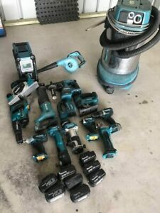 MAKITA COMBO KIT TOOLS BRUSHLESS RADIO DRILL PLANER JIGSAW BATTERIES CHARGER