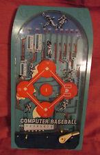 "COMPUTER BASEBALL 1979 Marble Pinball Game Working Manual Epoch Co JAPAN 15""Blue"