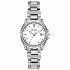 Citizen Eco-Drive Silhouette Women's EW1960-59A Silver-Tone Sport 28mm Watch