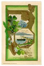 St Patricks Day -FAHAN PIER-LOUGH SWILLY IRELAND- John Winsch Booklet Postcard