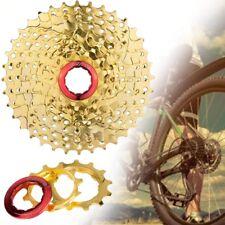 Outdoor Sports Mountain Bike Parts 9Speed Gold Freewheel Cassette 11-36T New