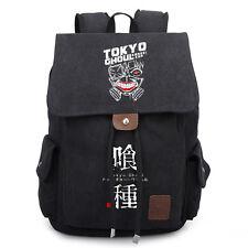 Men Women Anime Tokyo Ghoul Canvas Laptop Backpack School Bag Rucksack Travel