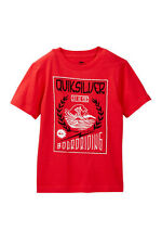 Quiksilver Boys XL Short Sleeve Red Hokus Pokus Surf Tee T-Shirt Cotton NWT