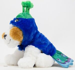 Halloween Simply Dog Blue & Green Peacock Costume Size XSmall NWT