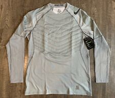 Nike Pro Hyperwarm Aeroloft LS Training Top Men's Large L Cool Grey 859749-065